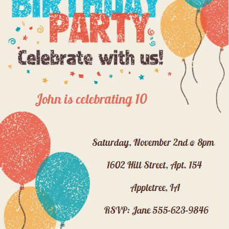 14 free printable birthday invitations