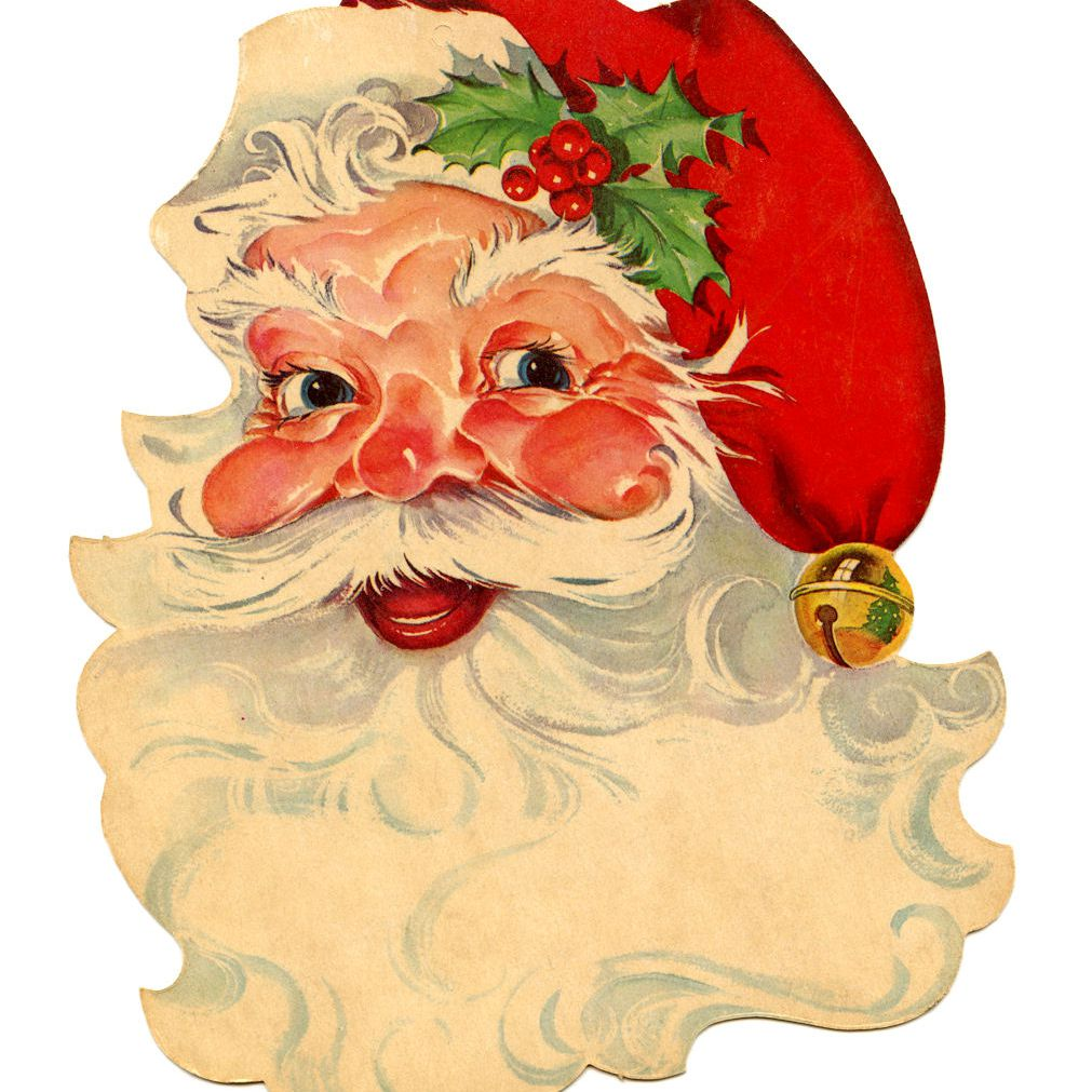 hight resolution of a vintage image of santa