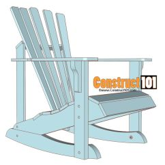 How To Build An Adirondack Chair Of Dnc 19 Free Plans You Can Diy Today A Diagram Blue Rocking