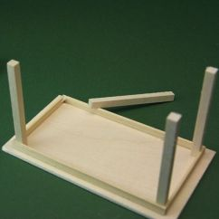 Kitchen Table Legs Color Cabinets Make Simple Tables For Doll Houses Or Miniature Scenes Glue The To Your Dolls House Top