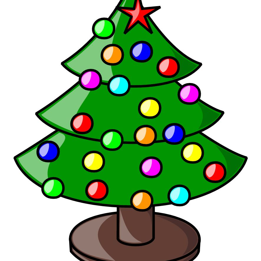medium resolution of a decorated christmas tree