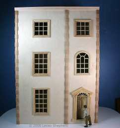 free plans and instructions for a dolls house dollhouse bookcase [ 1500 x 1235 Pixel ]