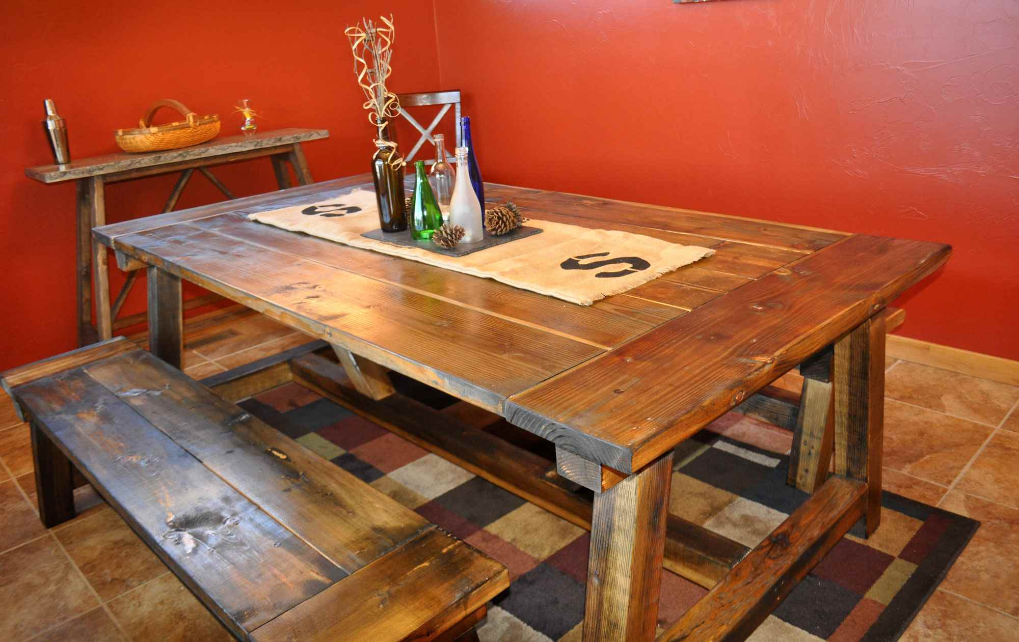 wood table kitchen install backsplash 13 free diy woodworking plans for a farmhouse in dining room
