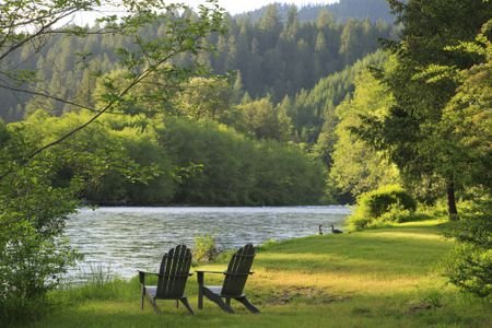 diy adirondack chair trex small recliner chairs canada 19 free plans you can today riverfront property with and geese