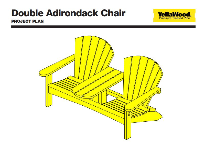 adirondack chair plan shower with armrests 19 free plans you can diy today a for double