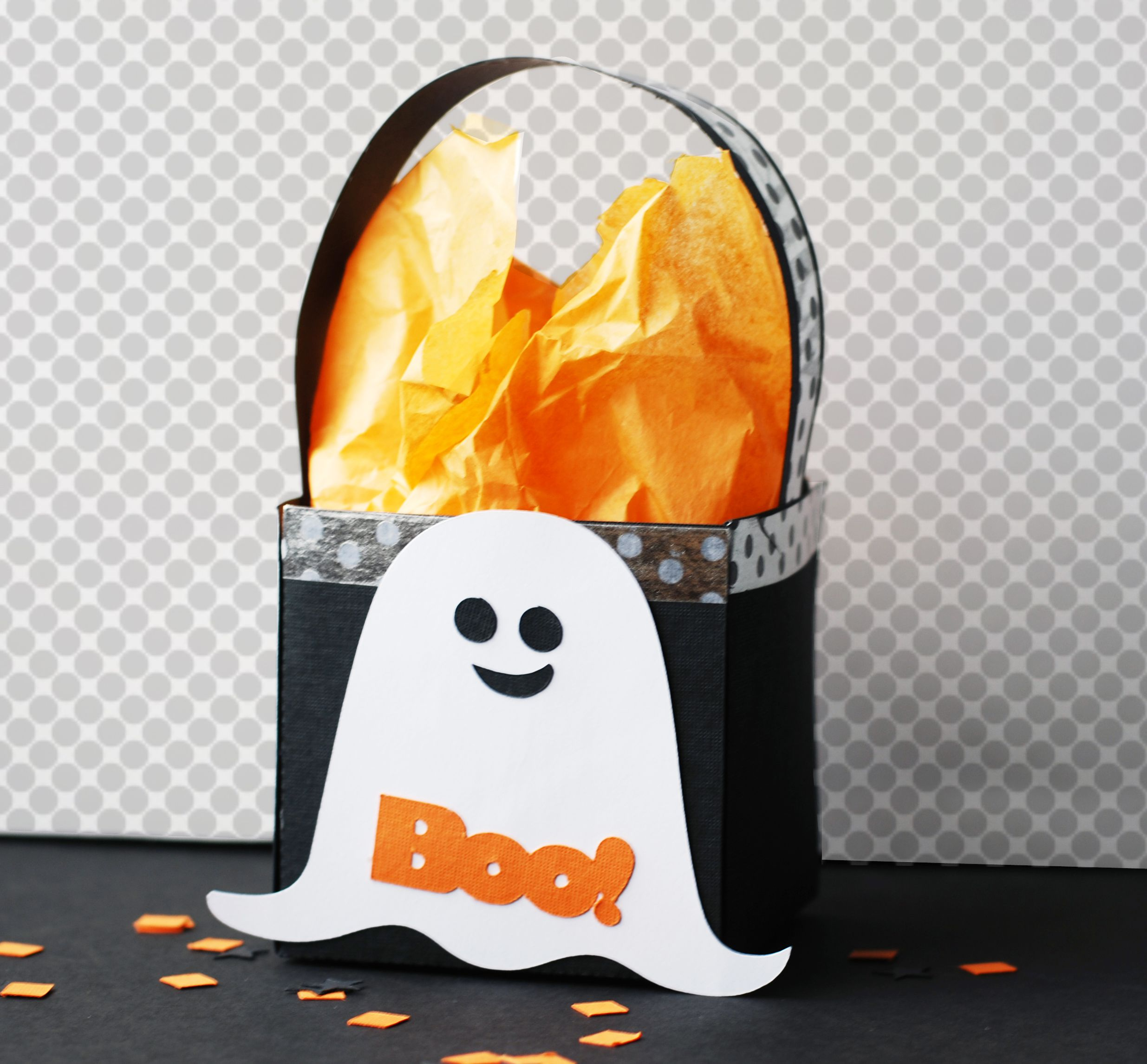 How To Make A Halloween Ghost Treat Box Paper Craft