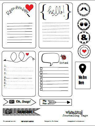 Finding Free Journaling Card Printables Online