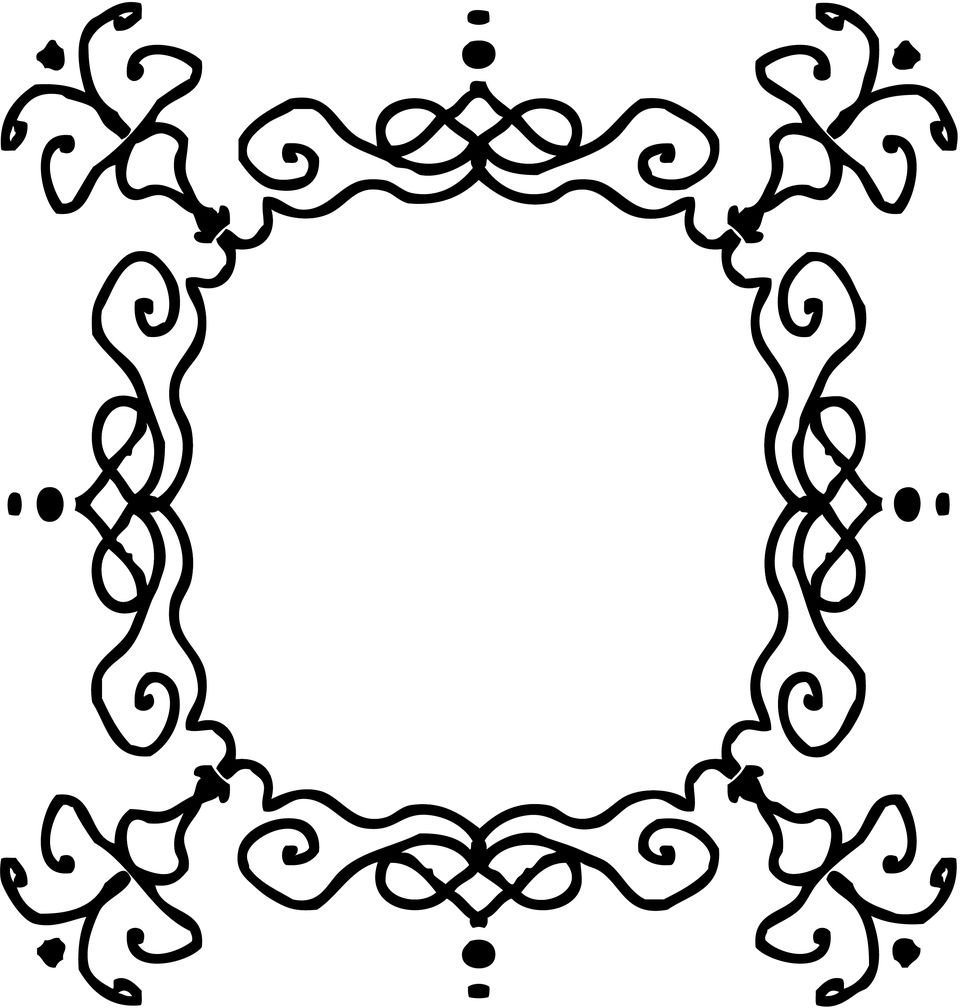 Free Printable Frames for Scrapbooks and Card Making