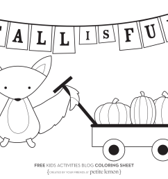 fall coloring pages from kids activities blog [ 1402 x 1086 Pixel ]