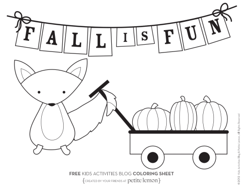 small resolution of fall coloring pages from kids activities blog