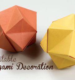 3d origami fox diagram [ 1200 x 800 Pixel ]
