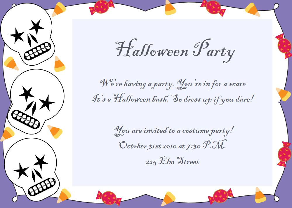Unleash the wild in your child. 17 Free Halloween Invitations To Print