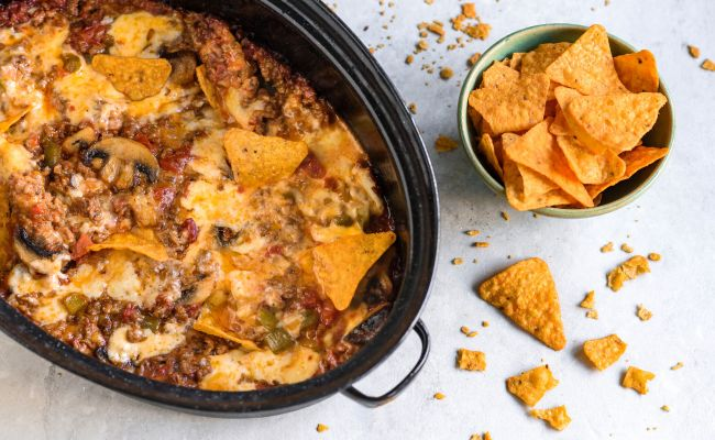 Crock Pot Ro Tel Dip Recipe With Ground Beef And Cheese