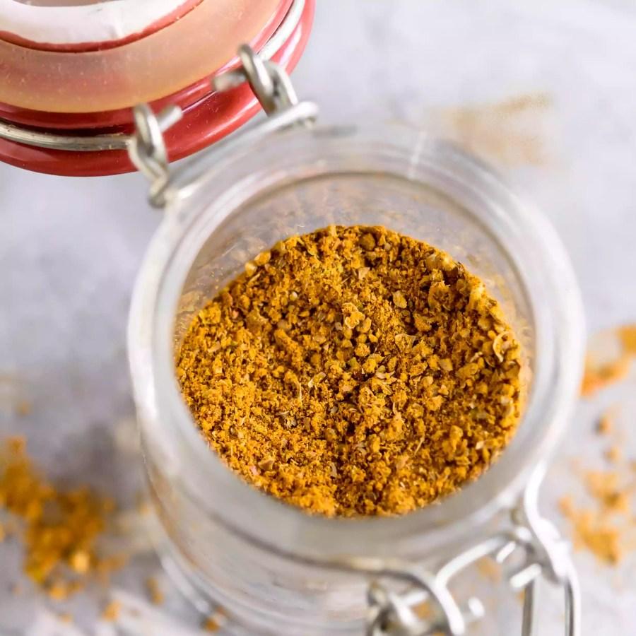 Thai Curry Powder in a jar