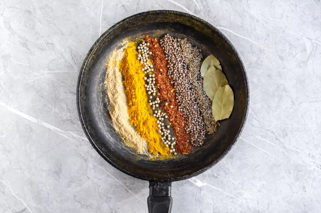 Thai Curry Powder spices in a pan