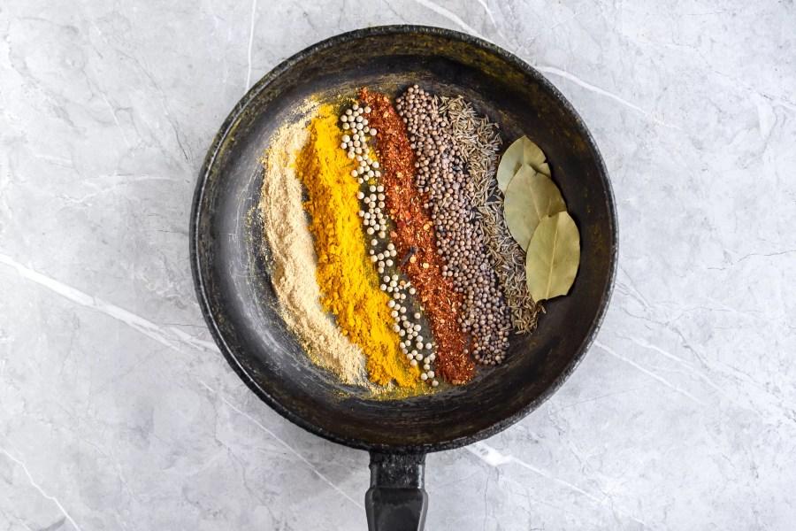 Thai Curry Powder spices in a pan