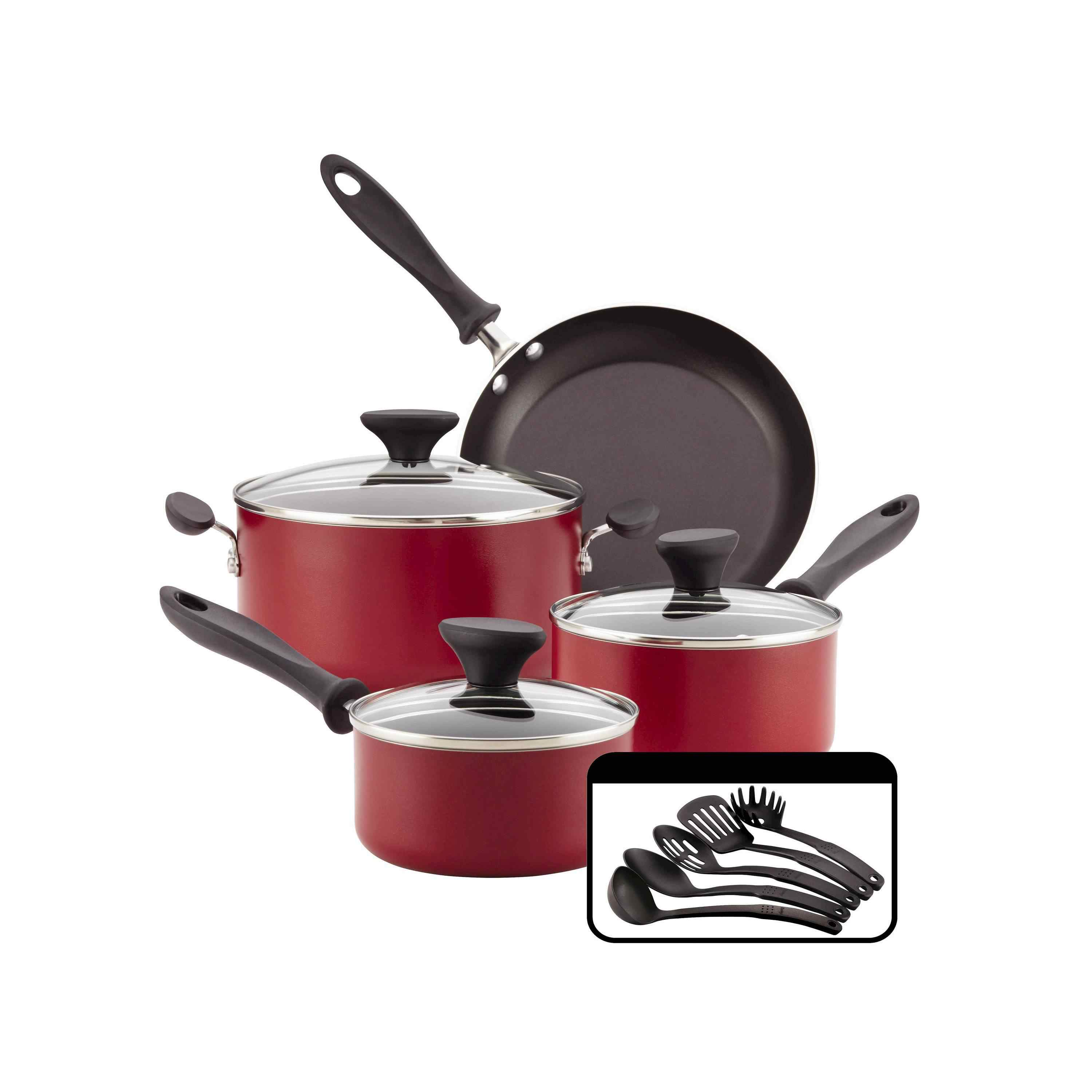 kitchen pan set cabinets hardware the 8 best cookware sets to buy in 2019 starter for small kitchens farberware