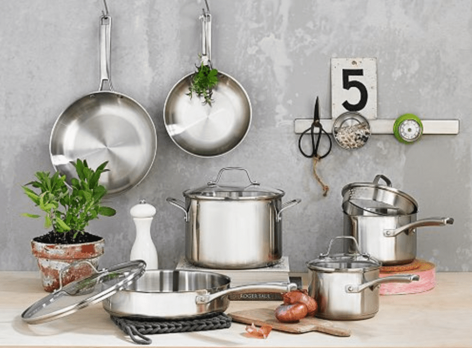 kitchen vessels set color cabinets the 6 best stainless steel cookware sets to buy in 2019 for durability calphalon classic 10 piece