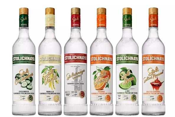 Selection of Stoli Vodka Flavors