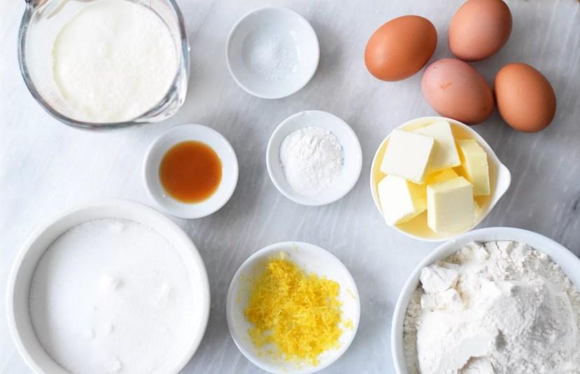 ingredientes do queque da páscoa