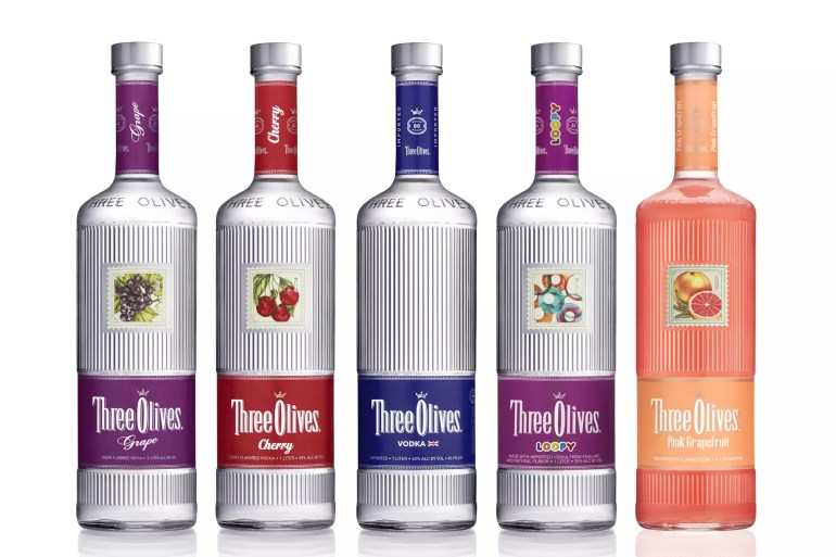 Selection of Three Olives Vodka Flavors