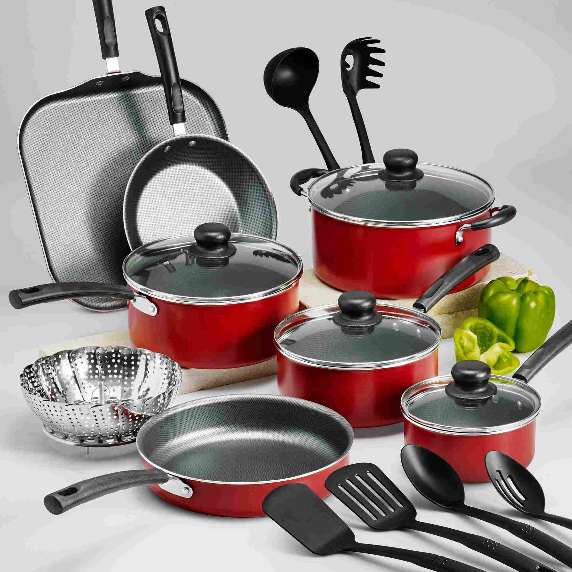 kitchen pan set target cabinet the 7 best nonstick cookware sets to buy in 2019 starter tramontina primaware 18 piece