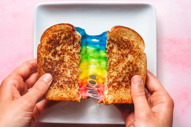 Rainbow Grilled Cheese Sandwich Recipe