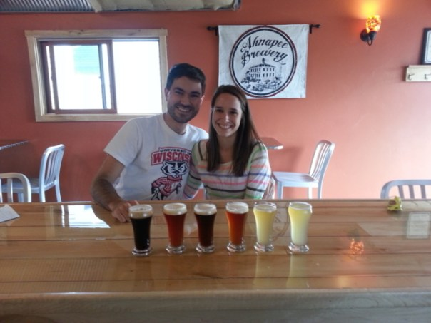 Joe and Katie at Ahnapee Brewery