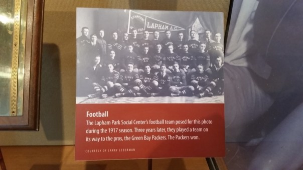 Local Jewish football team who played the Packers.