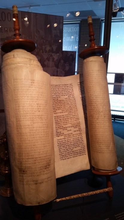 Torah scrolls.