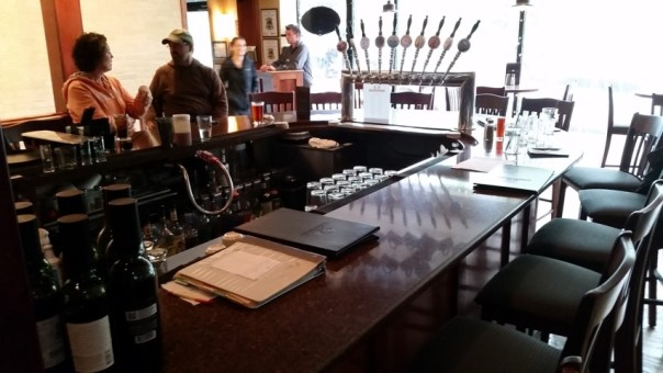 The front bar at Riverside. The brew kettles are near the front door around the corner.