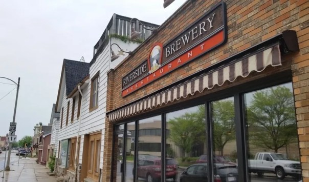 Riverside Brewery & Restaurant is located on the main street in West Bend. All photos by Joe Powell.
