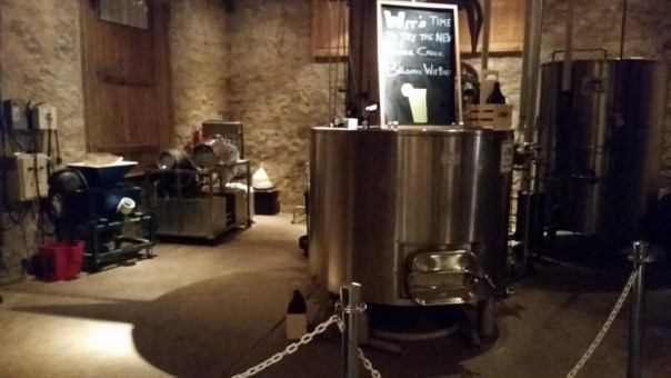 The brewing equipment.
