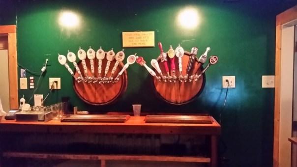 8 house brews, 8 visitors. That's beer dedication.