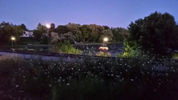 A blue moon rises.