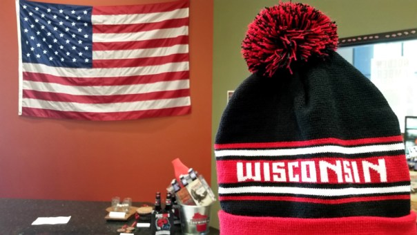 The gift shop has plenty of brewing, Wisconsin, and 'Murica swag.