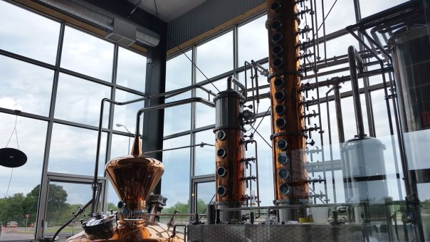 Large, modern, clean distilling space.