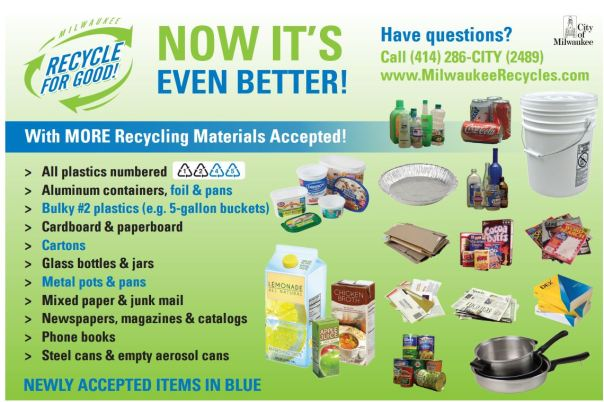 Milwaukee recycling guidelines.