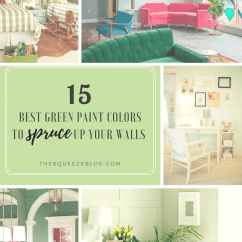 Best Green Color For Living Room Walls Contemporary Rooms 15 Paint Colors To Spruce Up Your The Squeeze