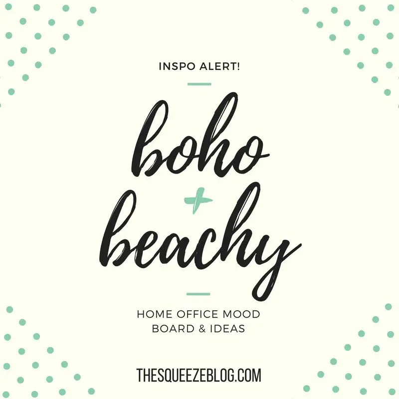 boho beach-chic mood board