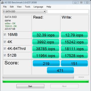 BP4 AS SSD IOPS