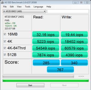 Kingfast New F3 AS SSD IOPS