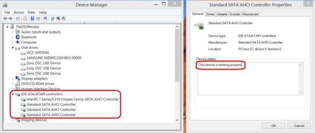 Windows 8 SSD AHCI Screen