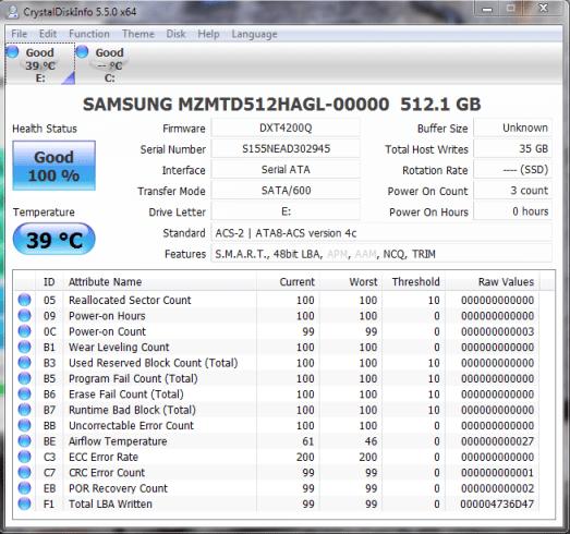 Samsung PM841 512GB CDI