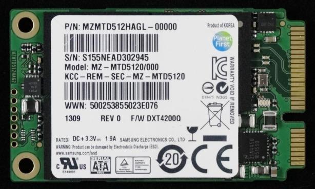 Samsung PM841 512GB mSATA SSD Front