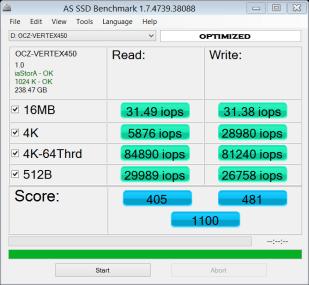 OCZ AS SSD IOPS