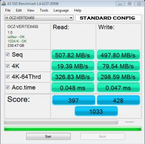 OCZ Vertex 450 AS SSD Bench1