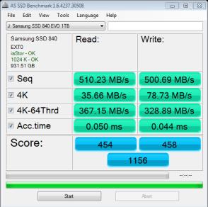 Samsung 840 EVO 1TB SSD AS SSD Bench