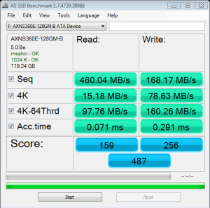 ADATA MPCIe 128GB AS SSD