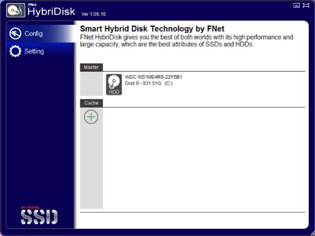 HybriDisk main screen
